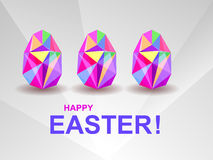 Holiday background with crystal Easter eggs. Stock Images