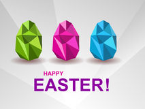 Holiday background with crystal Easter eggs. Royalty Free Stock Image