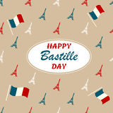 Holiday background with Eiffel towers and place for your text. Holiday background with the Eiffel towers and place for your text Royalty Free Illustration