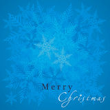 Holiday background flake of snow Stock Images