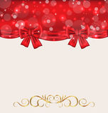 Holiday background with gift bows Royalty Free Stock Photos