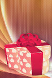 Holiday background with gift box Royalty Free Stock Image