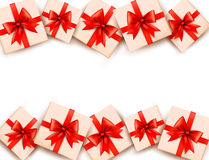 Holiday background with gift boxes Royalty Free Stock Image