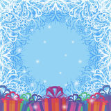 Holiday Background with Gift Boxes Royalty Free Stock Photography