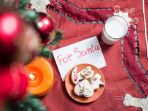Holiday background. Gift boxes and toy Royalty Free Stock Photo