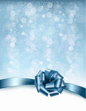 Holiday background with gift glossy bows and ribbons. Stock Images