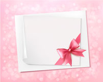 Holiday background with gift pink bow Royalty Free Stock Photo