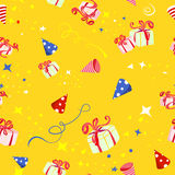 Holiday background with gifts Stock Photos