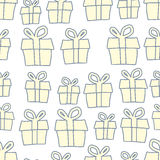 Holiday background of gifts. Vector present seamless pattern Royalty Free Stock Photography