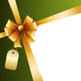 Holiday Background  with gold bow Royalty Free Stock Photos