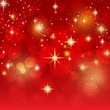 Holiday background with golden bokeh vector Royalty Free Stock Photos