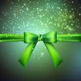 Holiday background with green bow Stock Images