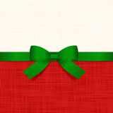 Holiday background. With green  ribbon and bow Royalty Free Stock Photography