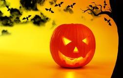 Holiday background Halloween pumpkin Stock Photography