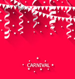Holiday background with hanging pennants for carnival party in t Royalty Free Stock Photography