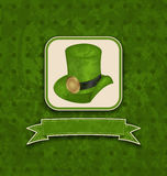 Holiday background with hat and ribbon for St. Pat Stock Photo