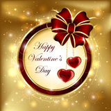 Holiday background with hearts Royalty Free Stock Image
