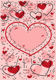 Holiday background of hearts. Abstract holiday background of hearts Royalty Free Stock Images