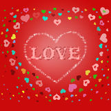 Holiday background with hearts symbol Stock Images
