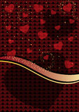 Holiday background of hearts. Vector holiday background of hearts Royalty Free Stock Image