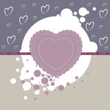 Holiday background with hearts and the word love Royalty Free Stock Images