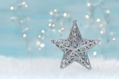 Holiday background. With christmas star Stock Photos