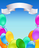 Holiday background with inflatable balloons Stock Photography