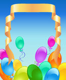 Holiday background with inflatable balloons Royalty Free Stock Photo