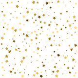 Holiday background with little golden stars isolated on white. Holiday background with little golden stars Royalty Free Stock Photo