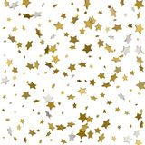 Holiday background with little golden stars isolated on white. Holiday background with little golden stars on white Stock Photo