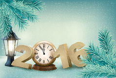 Holiday background with a 2016 made with a clock. Stock Photography