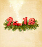 Holiday background with magic boxt and 2016. Stock Images