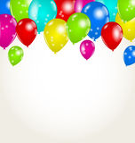 Holiday background with multicolor balloons Royalty Free Stock Photo