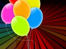 Holiday Background with Multicolored Balloons Royalty Free Stock Image