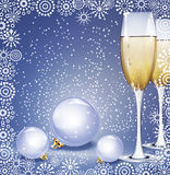 Holiday background with New Year's balls Stock Images