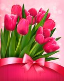 Holiday background with pink flowers Royalty Free Stock Photography