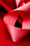 Holiday background with pink ribbon Stock Photo