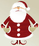 Holiday background with poor Santa Claus Royalty Free Stock Photos