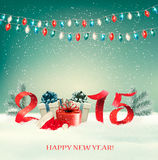 Holiday background with presents and 2015. Vector Stock Photo
