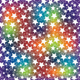 Holiday background. The rainbow blur and the stars Stock Photo