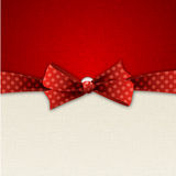 Holiday Background  with red bow. Vector illustration Abstract Holiday background with red bow Royalty Free Stock Photos