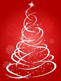 Red Christmas tree holiday background stock photo