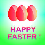 Holiday background with red  Easter eggs. Stock Image