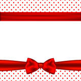 Holiday background with red ribbon and bow.  Royalty Free Stock Photography
