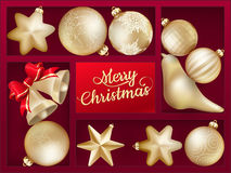 Holiday background with red shelf. EPS 10 Stock Photography