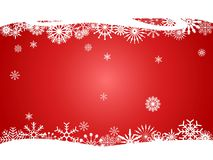 Red snowflakes curve for Christmas design background royalty free stock images