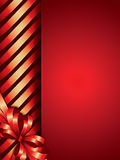 Holiday background with ribbon Stock Photography