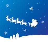Holiday background with santa. Vector holiday background with santa Royalty Free Stock Image