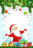 Holiday background with Santa Claus. With space for text Stock Image