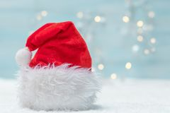 Holiday background. With Santa Claus hat Stock Image